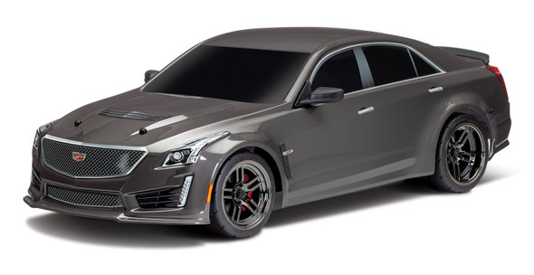 Traxxas 8391X Silver Cadillac CTS-V Body Painted Decals Applied : 4-Tec 2.0
