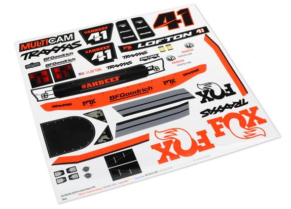 Traxxas 8515 Decals : Unlimited Desert Racer Fox Edition UDR