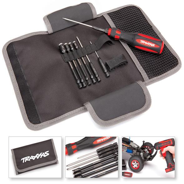 Traxxas 8712 Premium (7Pcs) Metric Hex & Nut Driver Tool Kit w/ Carrying Case