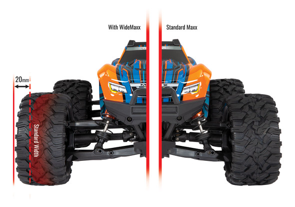 Traxxas 8995 Suspension WideMaxx Kit Black w/ F/R Arms/Frt Toe Links/Rear Shock Sprgs