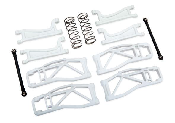 Traxxas 8995A Suspension WideMaxx Kit White w/ F/R Arms/Frt Toe Links/Rear Shock Sprgs