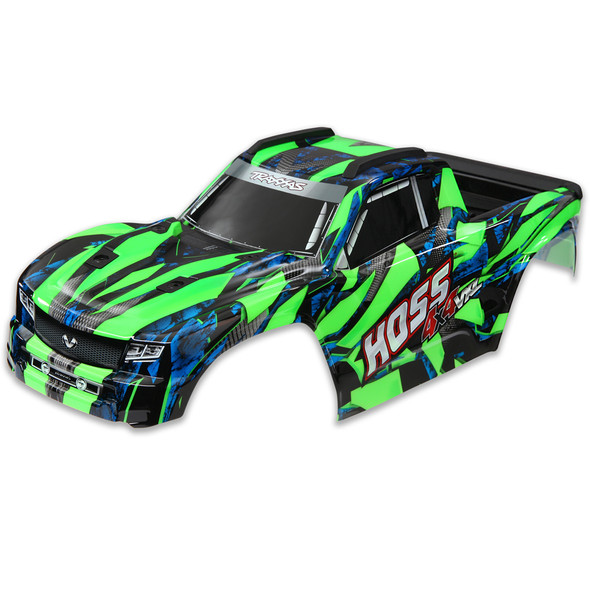 Traxxas 9011G Body Green Window / Grille / Lights Decal Sheet : Hoss 4x4 VXL
