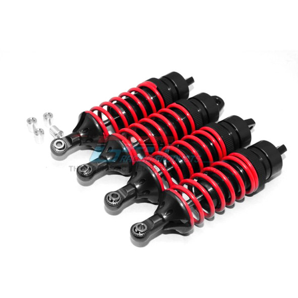 GPM Racing Alloy F/R Adjustable Spring Dampers 85mm (4) Black : Traxxas Revo