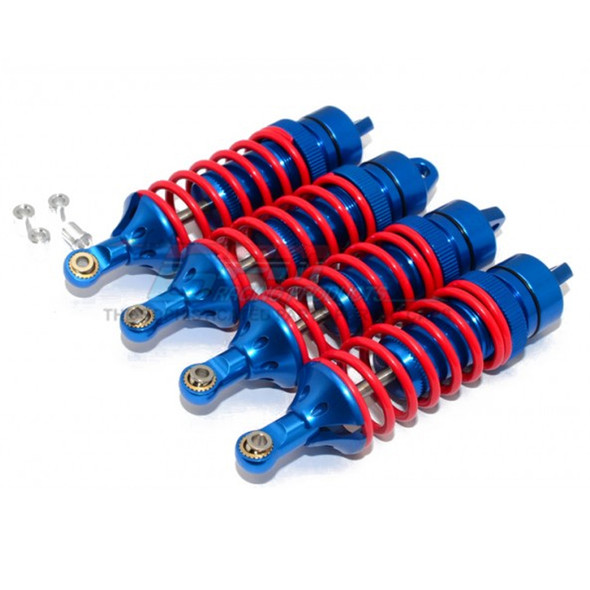 GPM Racing Alloy F/R Adjustable Spring Dampers 85mm (4) Blue : Traxxas Revo