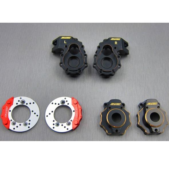 SAMIX TRX4-4412C3 Brass Knuckle / Portal Knuckle Cover / Scale Brake Rotor / Caliper Set : TRX4