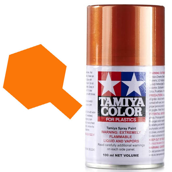 Tamiya TS-92 Metallic Orange Spray Paint Can Lacquer Plastic 3oz (100ml)