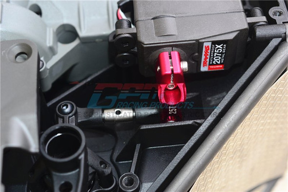 GPM Alum Servo Horn Black w/ SST Adjustable Tie Rods : Unlimited Desert Racer