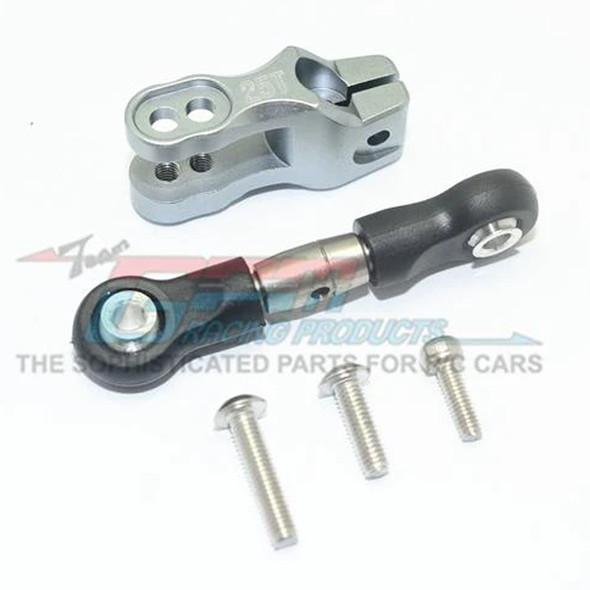 GPM Alum Servo Horn Grey w/ SST Adjustable Tie Rods : Unlimited Desert Racer