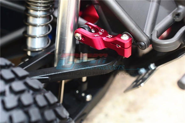 GPM Aluminum Front & Rear Sway Bar Red : Unlimited Desert Racer