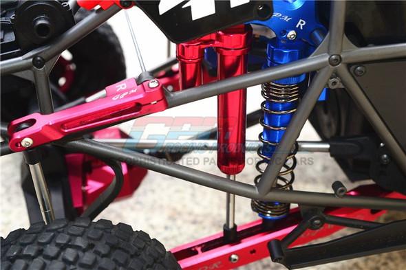 GPM Aluminum Front+Rear L-Shape Piggy Back Damper Red : Unlimited Desert Racer