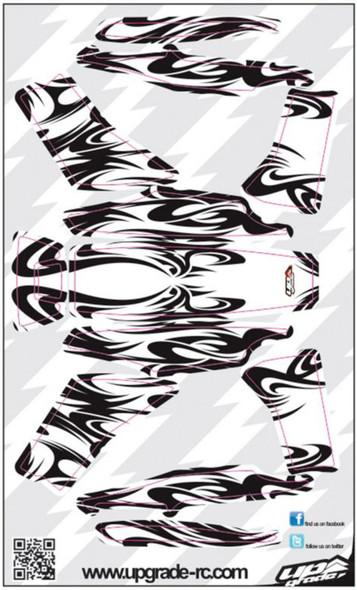 Upgrade RC Black/White Kabuki Skin / Decal / Sticker 200QX UPG7204