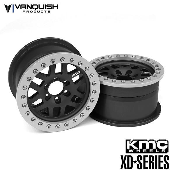 Vanquish KMC 1.9 XD229 Machete Black Anodized Wheels (2)