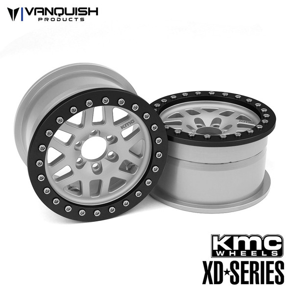 Vanquish KMC 1.9 XD229 Machete Clear Anodized Wheels (2)