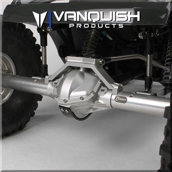 Vanquish VPS08348 Aluminum Wraith/Yeti Centered Pumpkin Rear Currie Axle Grey