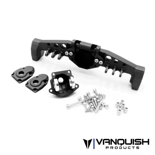 Vanquish VPS08492 Currie F9 Portal Offset Rear Axle Black : Axial SCX10-III