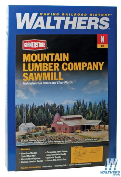 Walthers 933-3236 Mountain Lumber Company Sawmill Kit : N Scale