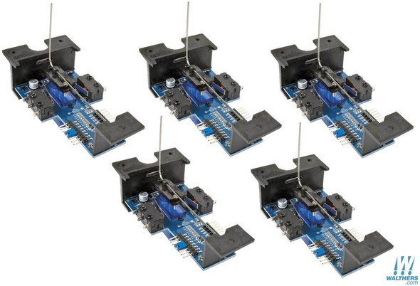 Walthers 942-502 Layout Control System Horizontal Mount Switch Machine 5-Pack HO