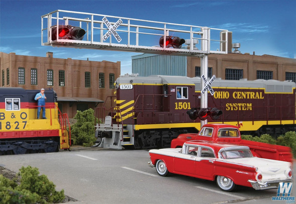Walthers 949-4330 Modern Cantilever Grade Crossing Signal Two-Lane HO Scale