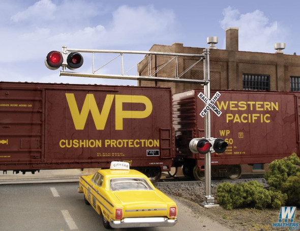 Walthers  949-4332 Post-1960s Cantilever Grade Crossing Signal Single-Lane HO Scale