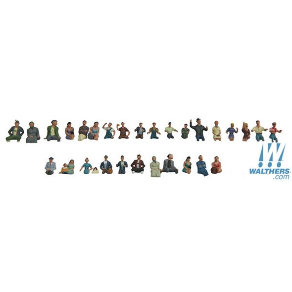 Walthers 949-6034 Seated Coach Passengers Pkg (30) HO Scale