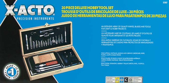 X-Acto X5087 Deluxe Quality Knives, Blades, Tool Hobby Set w/Chest