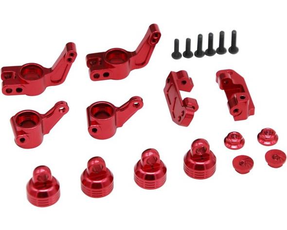 Hot Racing XPTE919P02 Red Aluminum Suspension Beef Up Kit : Slash / Rustler / Stampede