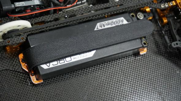 Yeah Racing Alum Adjustable Hook & Loop Lipo Battery Mount Black : Xray T4