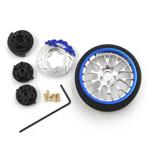 Yeah Racing YA-0625DB Aluminum Transmitter Steering Wheel Set Blue Type A