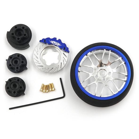 Yeah Racing YA-0626DB Aluminum Transmitter Steering Wheel Set Blue Type B