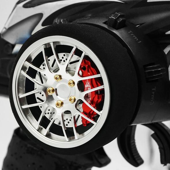 Yeah Racing YA-0626SV Aluminum Transmitter Steering Wheel Set Silver Type B