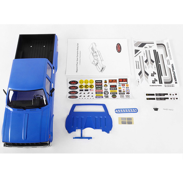 RC4WD Z-B0151 Mojave II Four Door Complete Body Set Blue