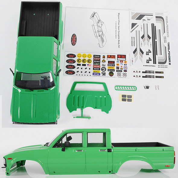 RC4WD Z-B0207 Mojave II Four Door Complete Painted Body Set Green