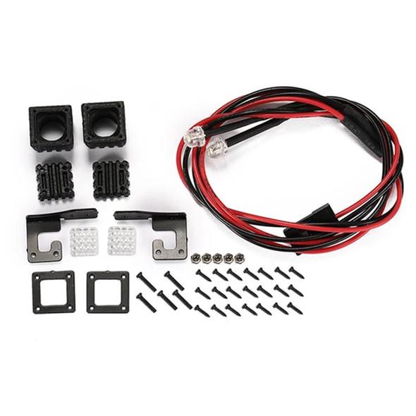 GPM R/C Accessories : Spotlight For 1:10 Crawlers Style A Black : SCX10 III / TRX-4