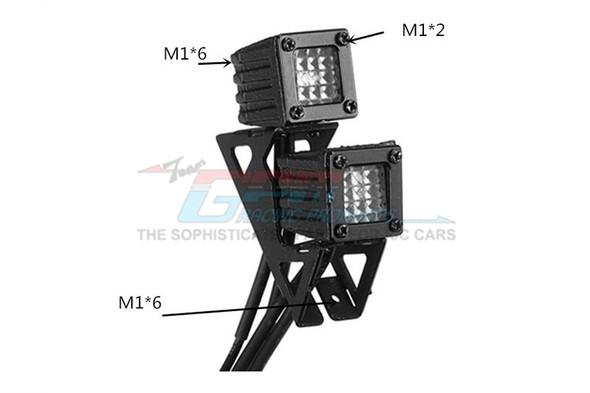 GPM R/C Accessories : Spotlight For 1:10 Crawlers Style B Black : SCX10 III / TRX-4