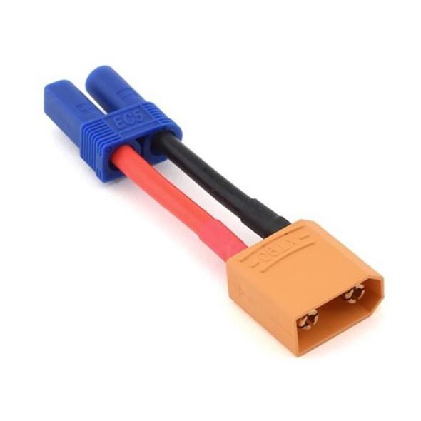 Hot Racing ACE828EC52XT91 EC5 Socket Adapter to XT90 Pin Connector