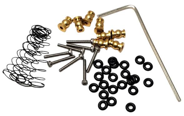 NHX Aluminum Mini/Micro Shock / Damper Set Black : Axial SCX24 Front / Rear
