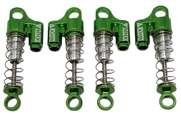 NHX Aluminum Mini/Micro Shock / Damper Set Green: Axial SCX24 Front / Rear