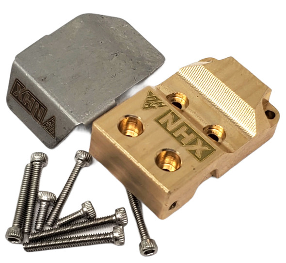 NHX Brass Diff Cover w/Stainless Steel Skid Plate Axial SCX24