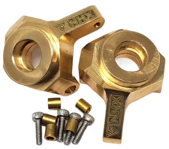 NHX Brass Front Steering Knuckle / Steering blocks Axial SCX24