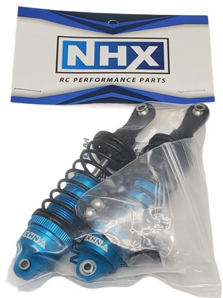 NHX Aluminum Adjustable Front Shocks - Blue : Traxxas Slash 4x4