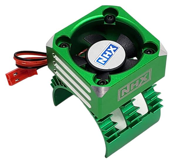 NHX 30mm Alum Case Cyclone Cooling Turbo 1/10 Motor Fan Metallic green