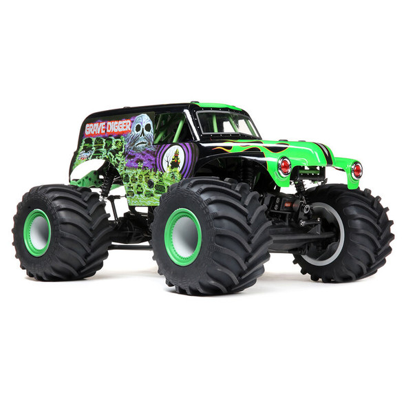 Losi LOS04021T1 LMT 4WD Solid Axle Brushless Monster Truck RTR Grave Digger Green
