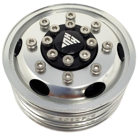 NHX Aluminum Front Wheel Rim Silver For 1/14 Tamiya Tractor Trucks (BearingHubs)