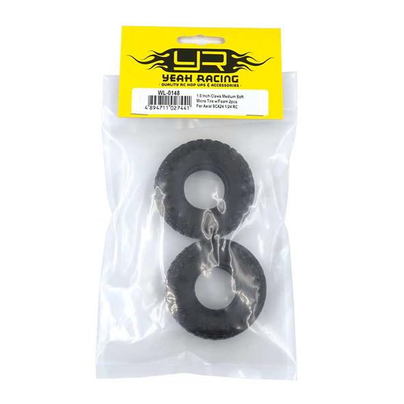 Yeah Racing WL-0148 1.0 Inch Claws Medium Soft Micro Tire w/Foam (2) : SCX24 1/24