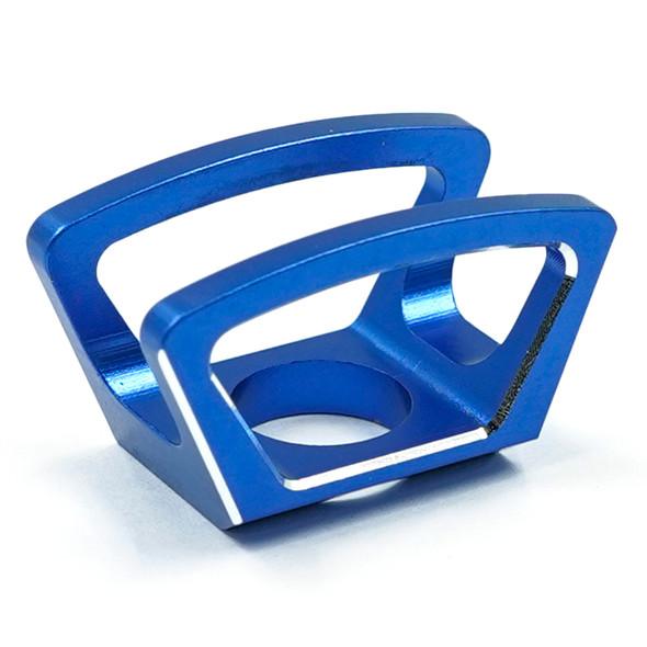Yeah Racing YA-0619DB Aluminum Diff Lock Switch Protector Blue : Traxxas TQi Radio