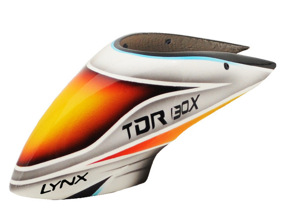 Lynx LX130X004 Blade 130X Air Brushed Fiber Glass Canopy TDR Style Color Schema #04