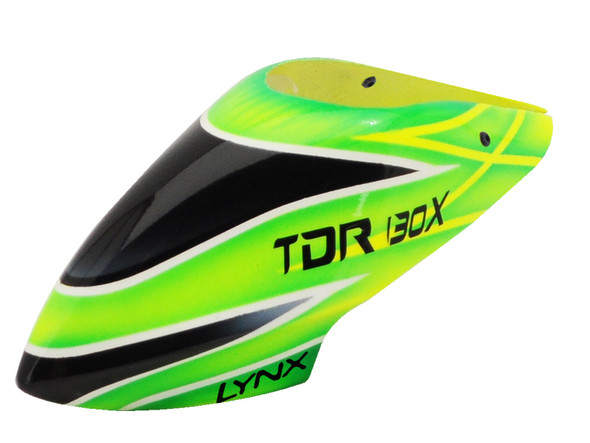 Lynx LX130X003 Blade 130X Air Brushed Fiber Glass Canopy TDR Style Color Schema #03