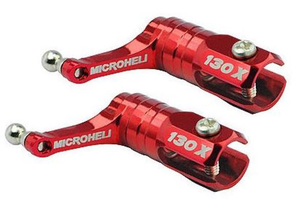 Microheli Blade 130x Main Blade Grip w/ Thrust Bearing/Titanium Ball(RED) 130 x