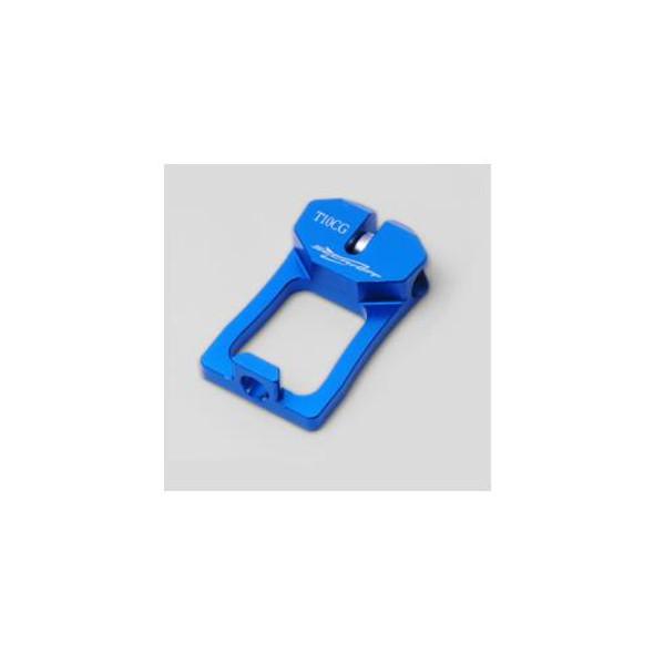 Secraft Blue Anodized Aluminium Futaba 10CG Transmitter Balancer