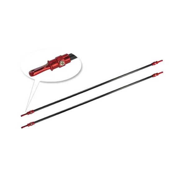 Microheli Aluminum/Carbon Tail Boom Support set (RED) - GAUI X3